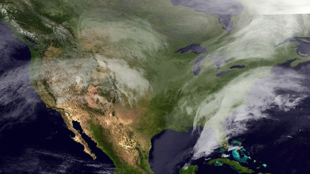 Eastern US Winter Storm Captured in Satellite Photo