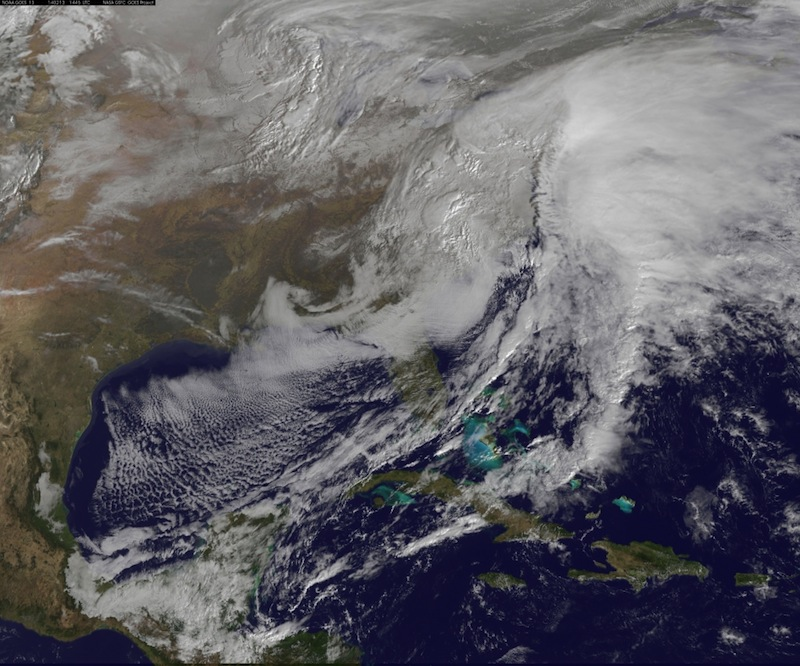Satellite Spies Winter Storm as Eastern US Digs Out (Photo)