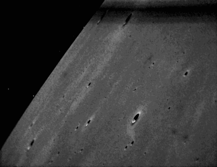 NASA Moon Dust Probe Beams Its 1st Lunar Photos to Earth
