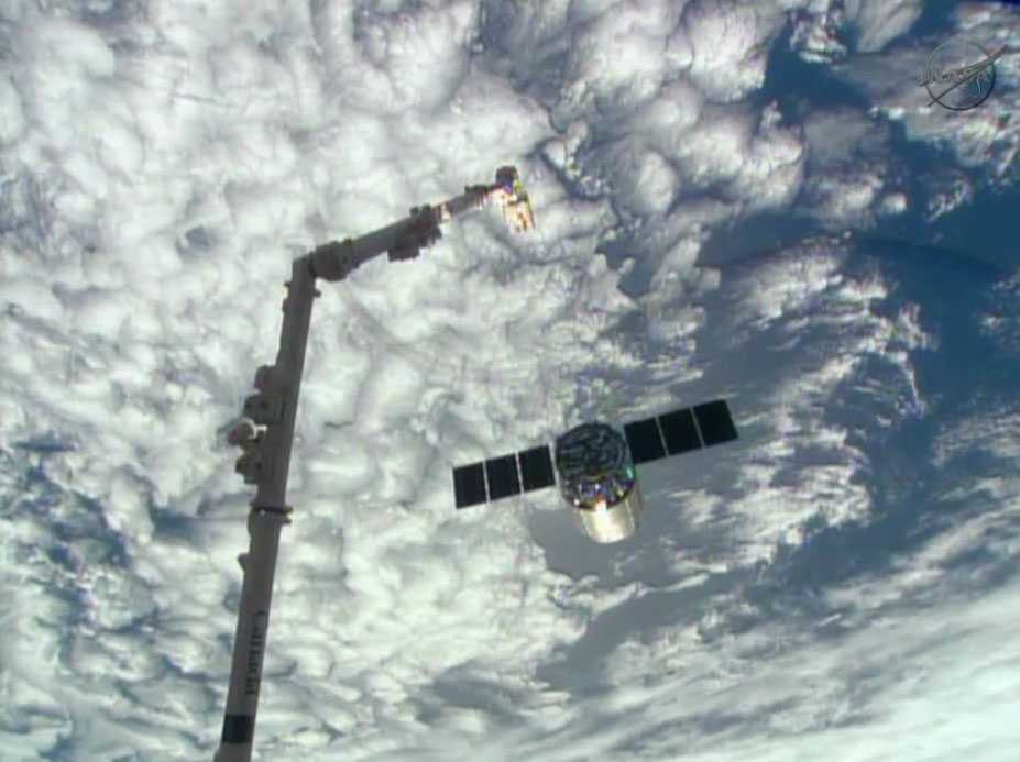 Private Cygnus Spacecraft Departs Space Station