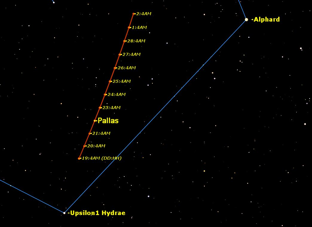 Spot Huge Asteroid Pallas in the Night Sky This Week