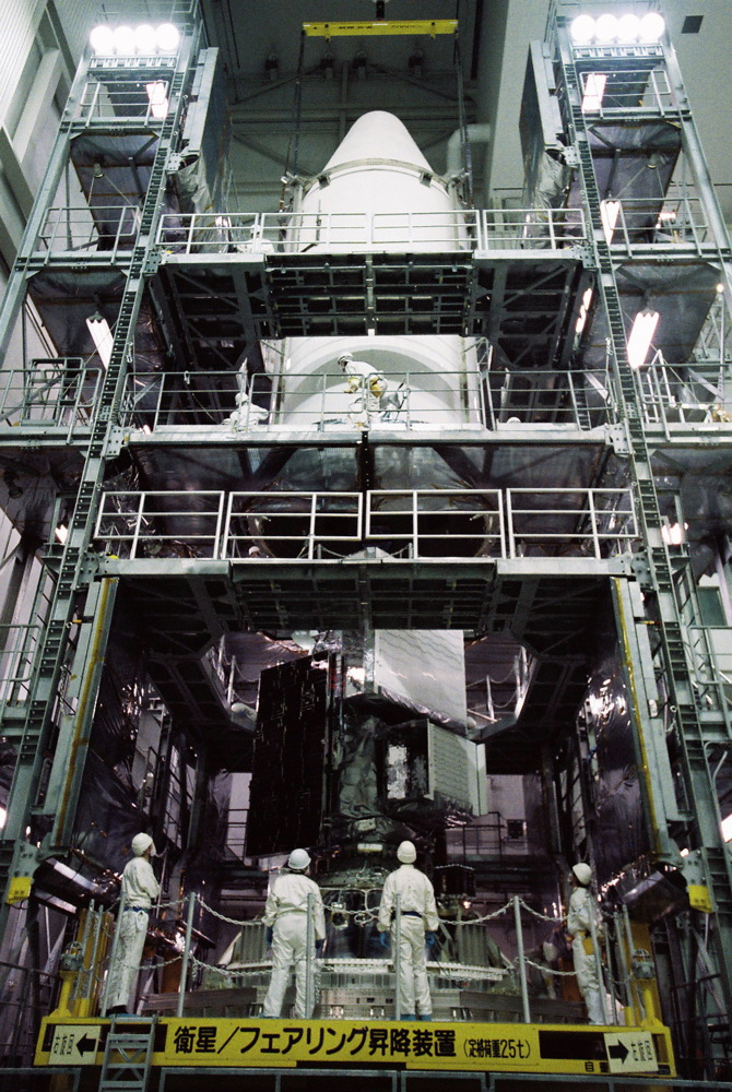 Global Precipitation Measurement Mission's Core Observatory Encapsulated in Fairing