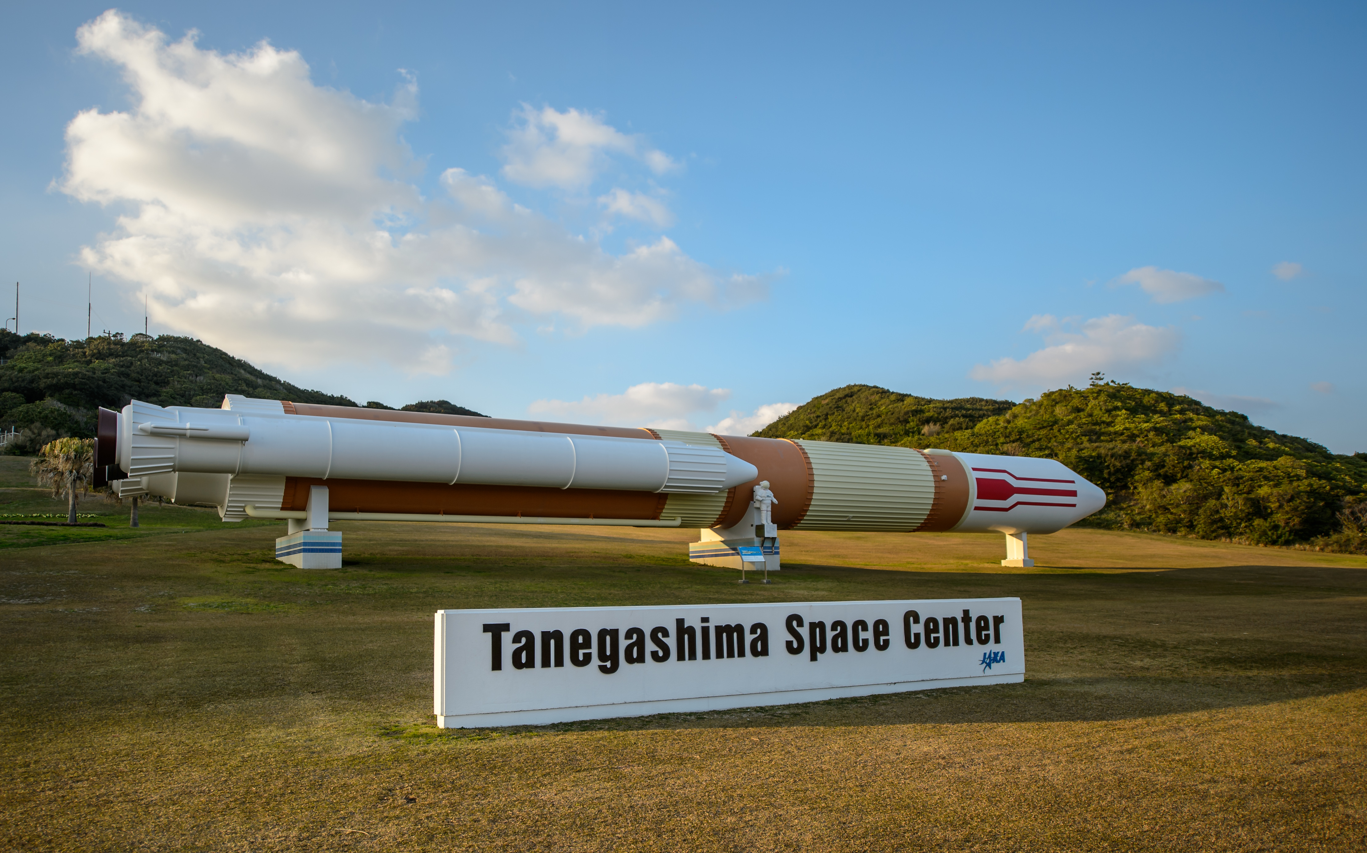 H-II Rocket Model on Display at Tanegashima Space Center