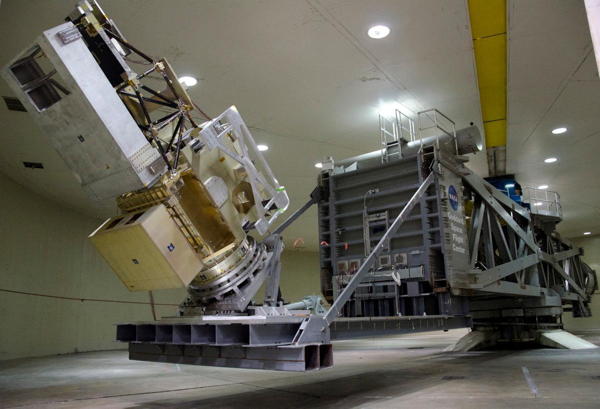 NASA's GPM Satellite Tested on Goddard's Centrifuge