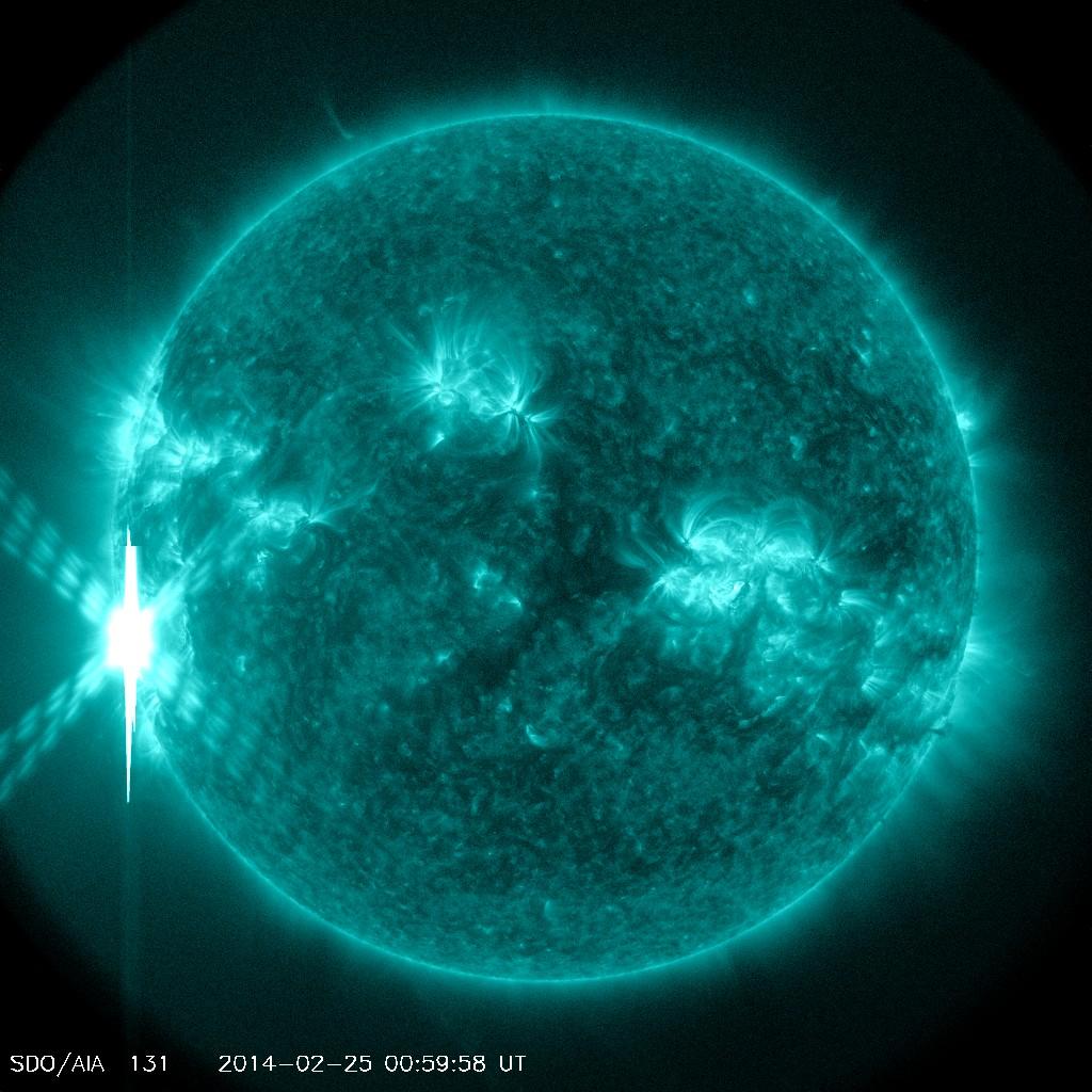 X4.9 Solar Flare of Feb. 24/25 2014