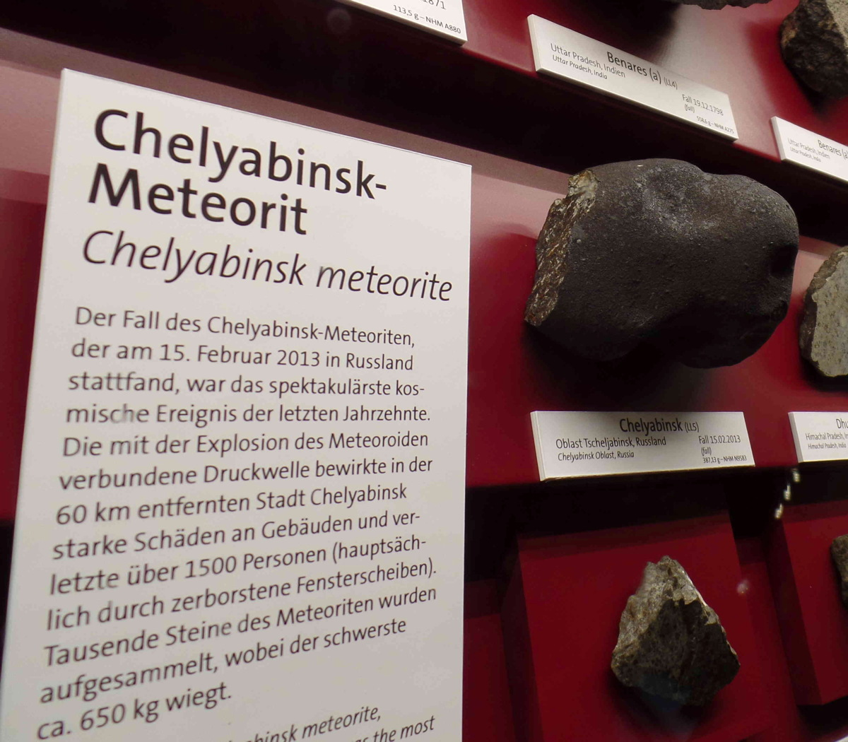 Meteorite Fragments from Russian Fireball on Display 1 Year After Space Rock Explosion