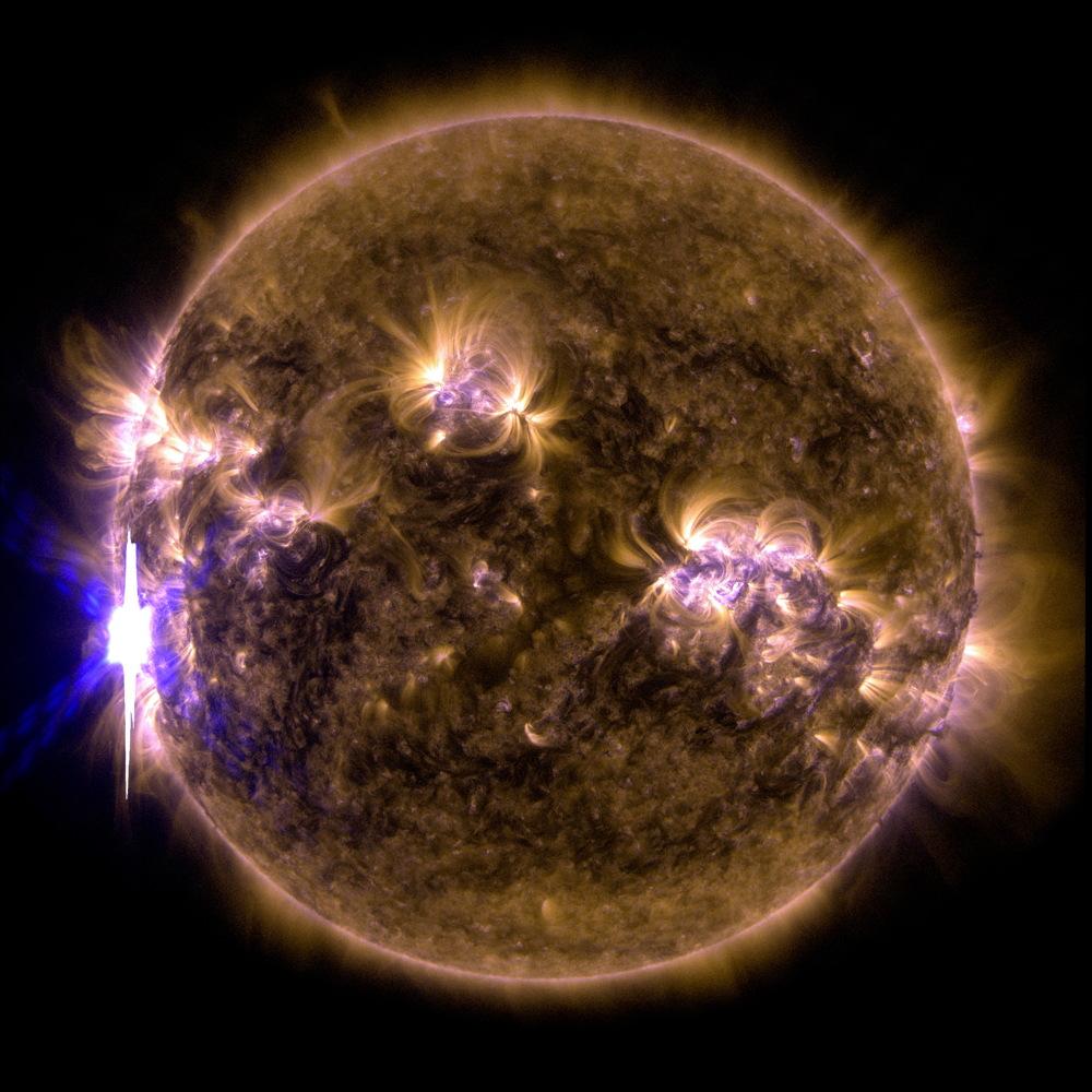 X-Class Solar Flare Composite Image, Feb. 24, 2014.