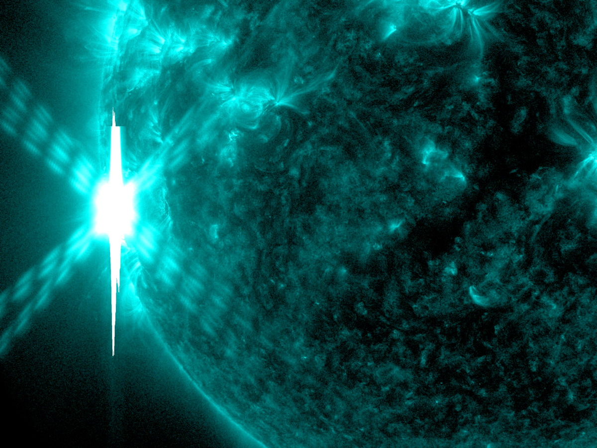 X 4.9 Flare in 131 Angstrom Light