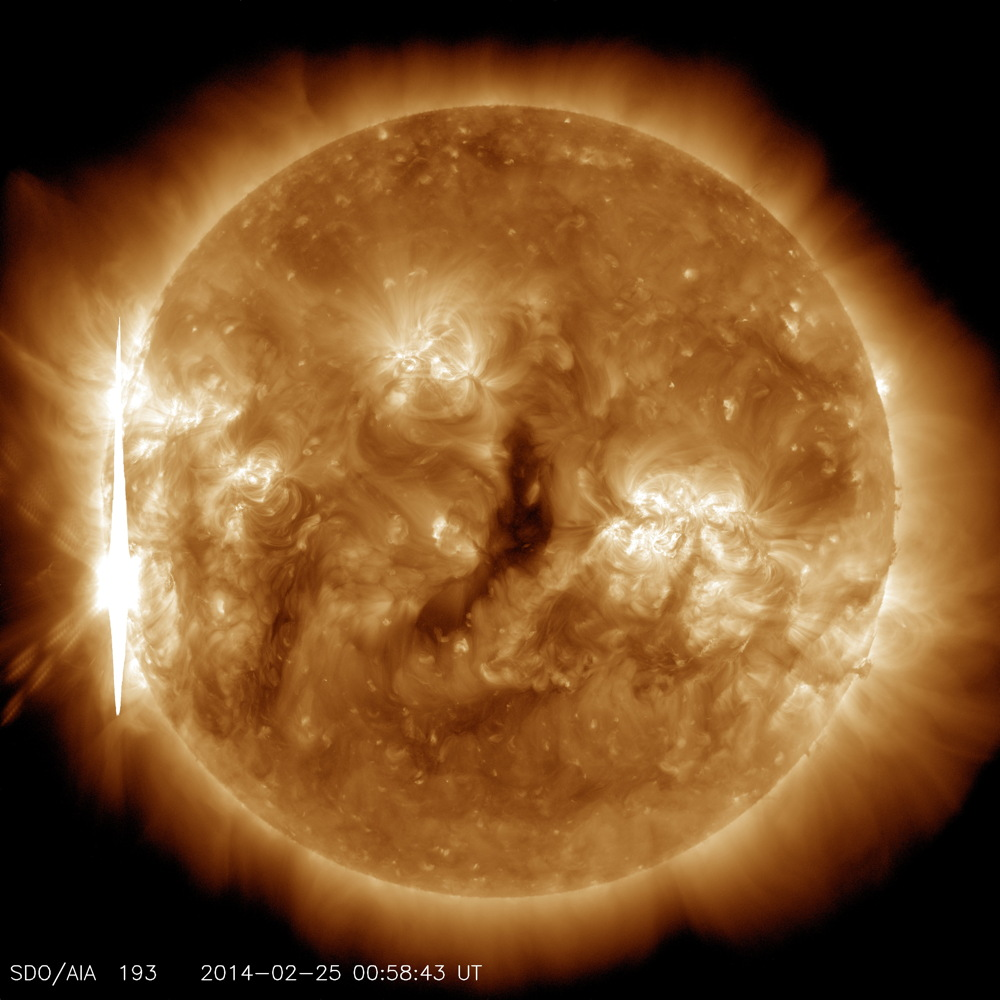 X 4.9 Flare in 193 Angstrom Light