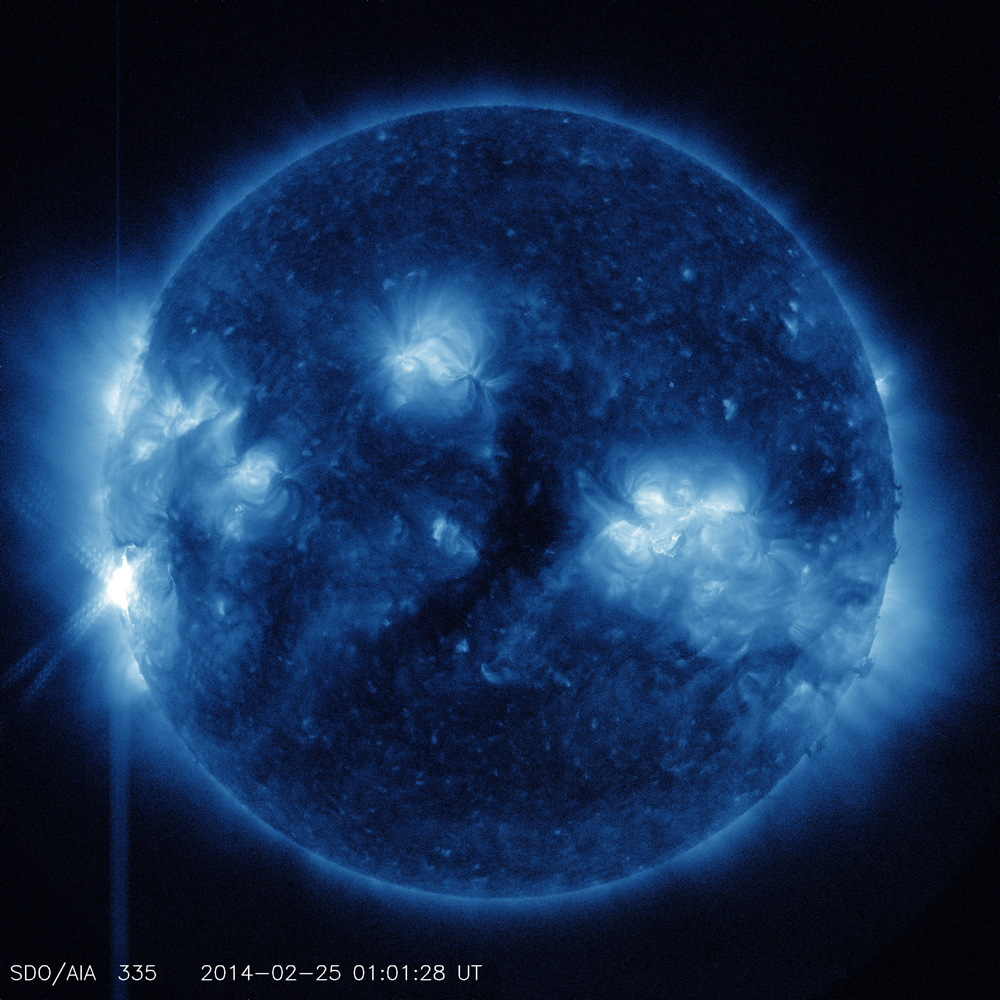 X 4.9 Flare in 335 Angstrom Light