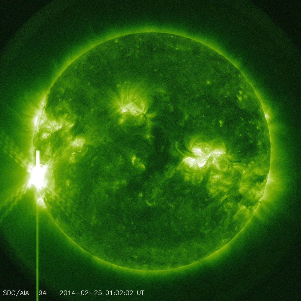X 4.9 Flare in 94 Angstrom Light