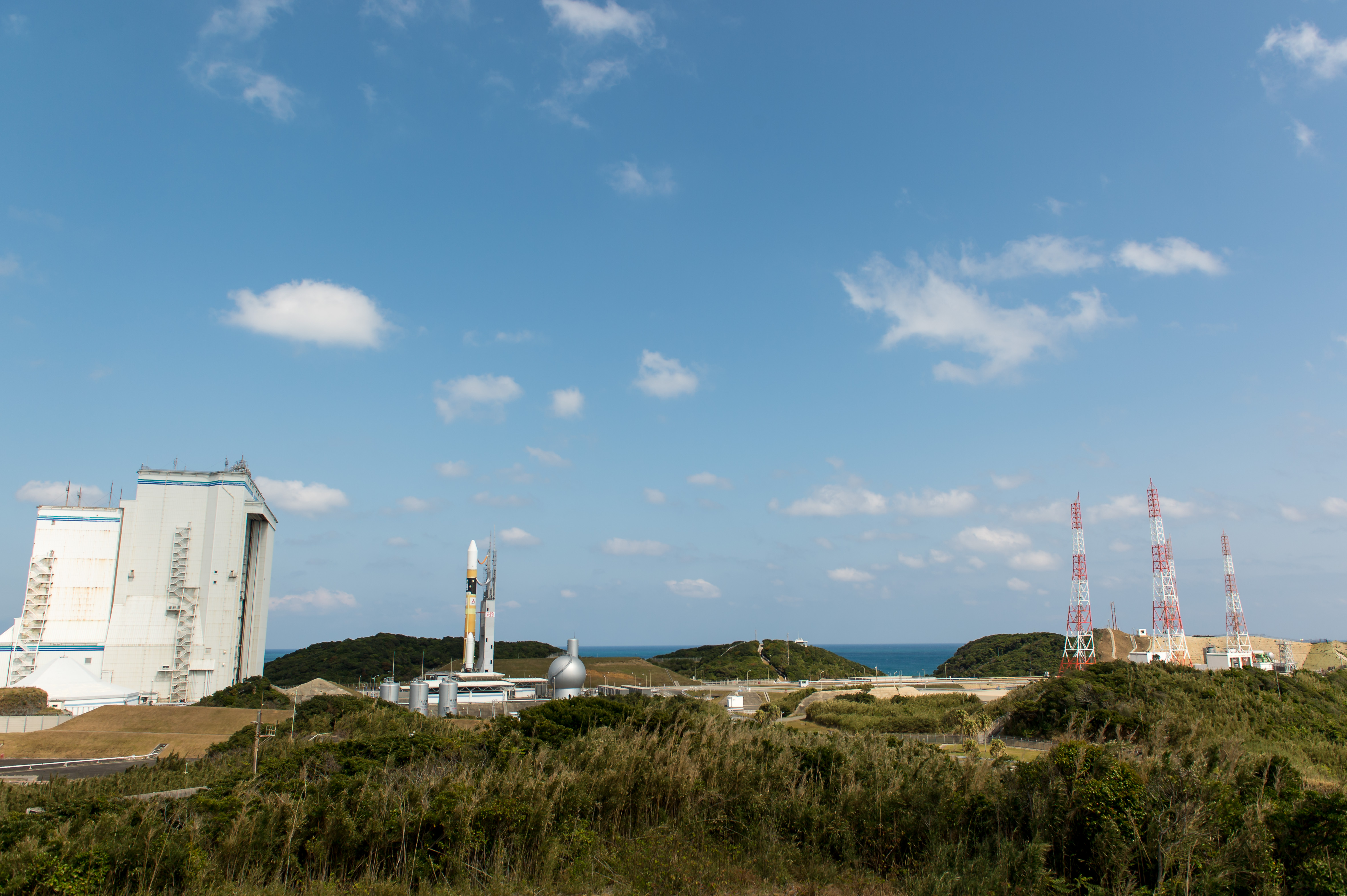 Japanese H-IIA Rocket Rolls Out