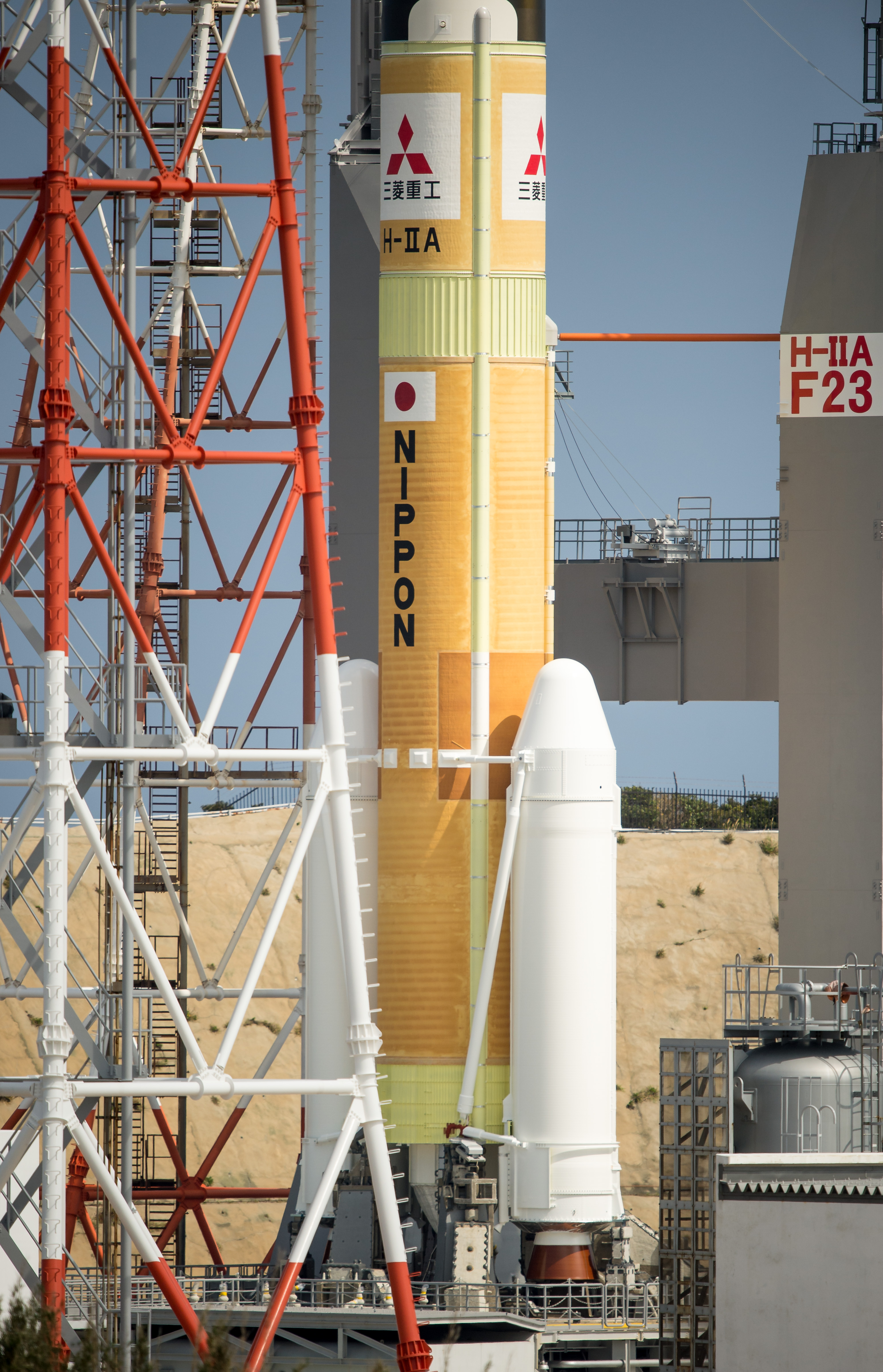 Rocket Rolls Out Carrying GPM Core Observatory