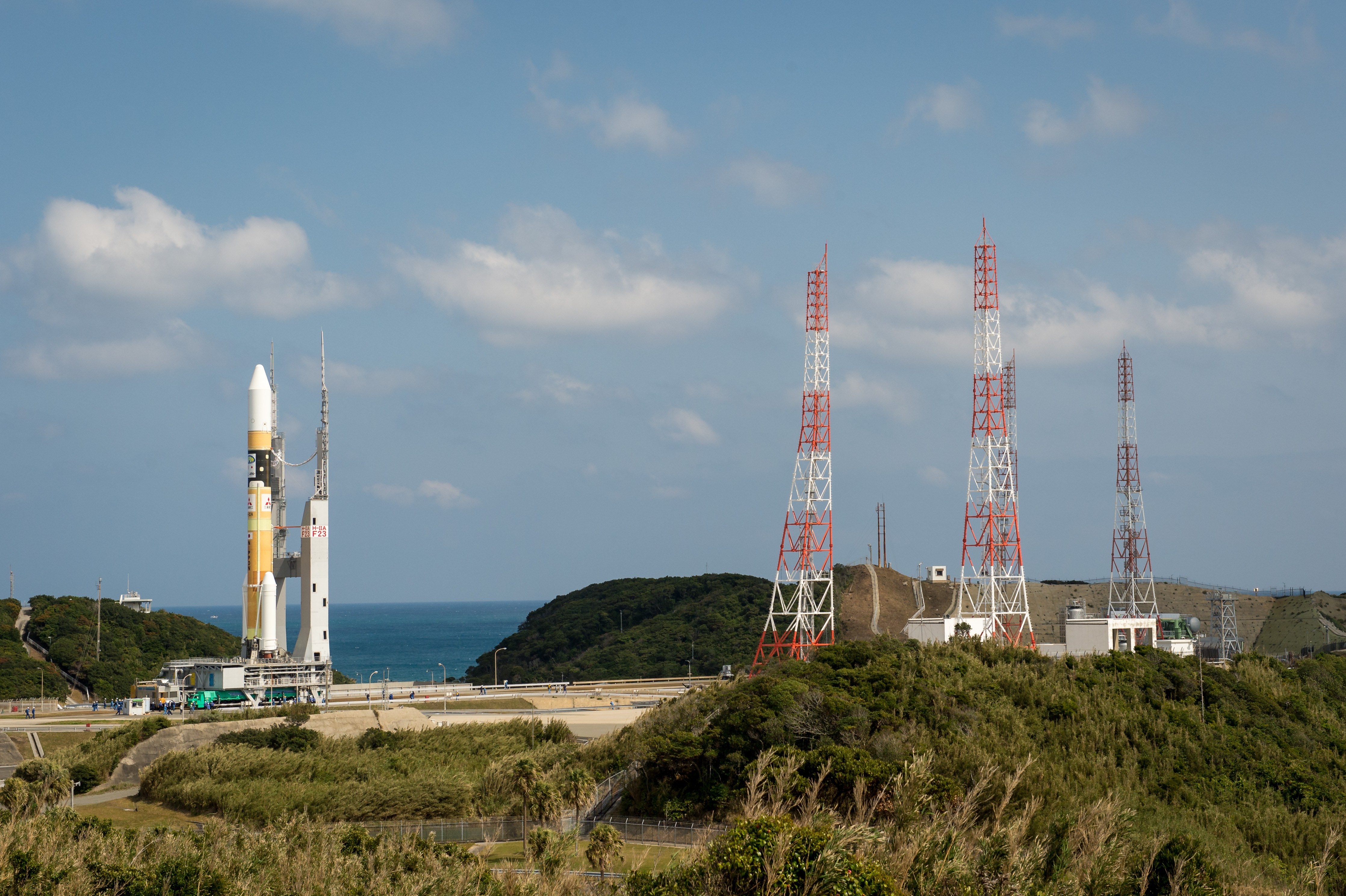 H-IIA Rocket Rolls Out for Global Precipitation Measurement Mission