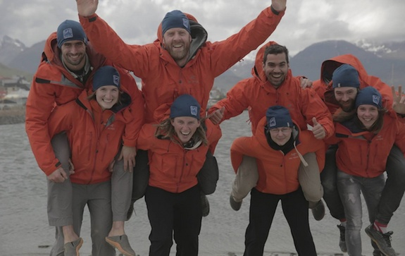 The members of the XPAntarctik expedition kick off their epic 45-day trek around the icy continent.