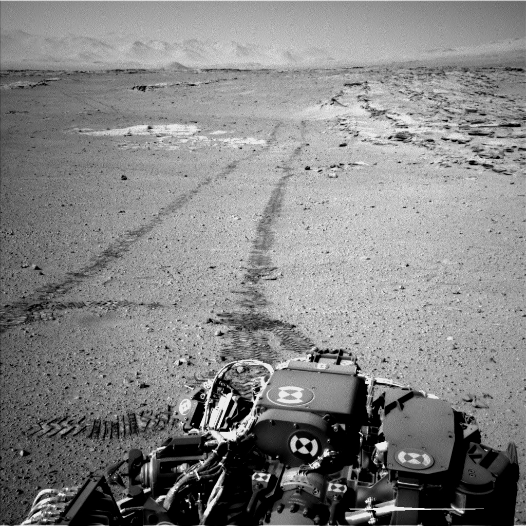 Curiosity's View Back After Passing 'Junda' Striations