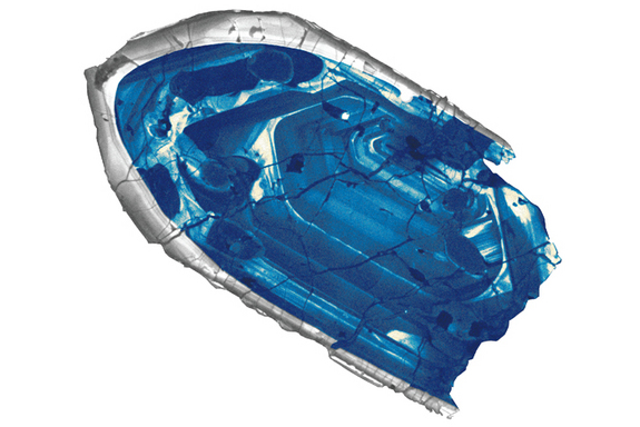 A 4.4 billion year old zircon crystal from Australia is the oldest piece of Earth yet found. The source rocks for the small shards have not yet been identified.