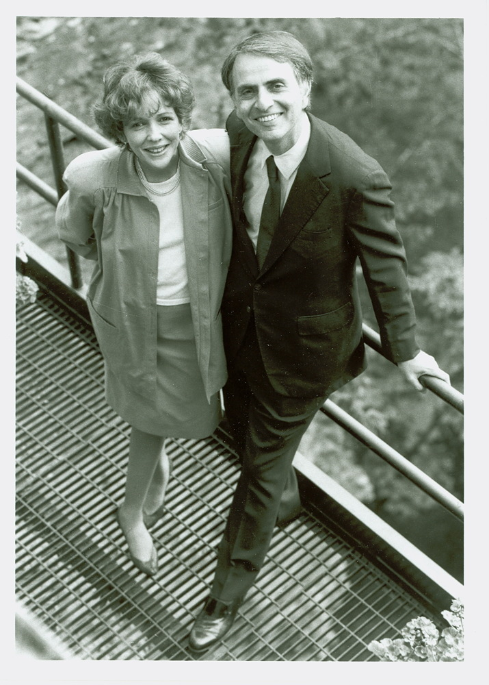 Ann Druyan and Carl Sagan, 1988