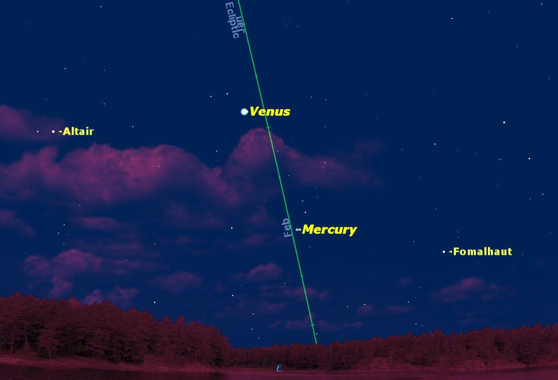 Mercury at Greatest Elongation, March 2014