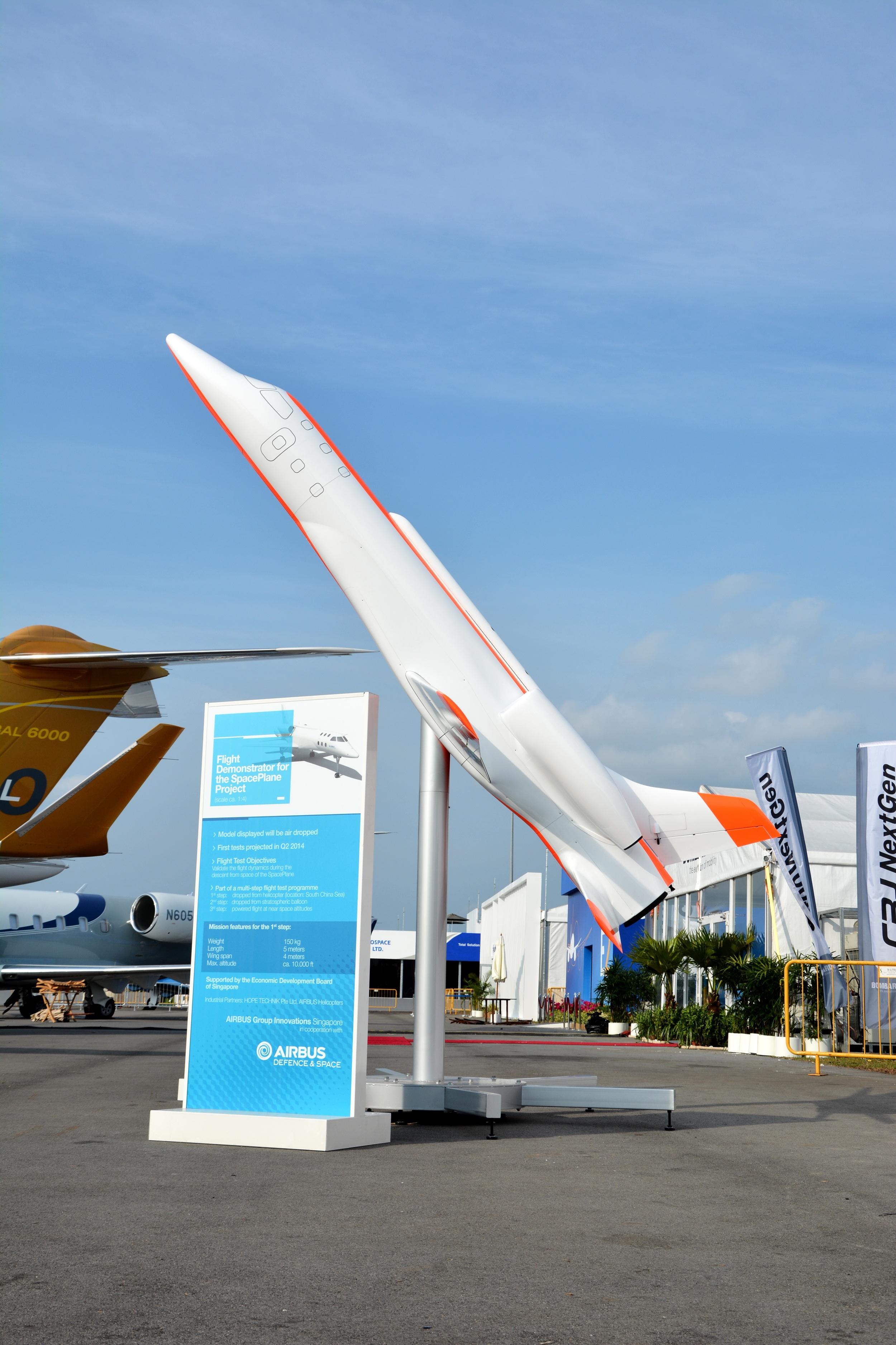 Airbus' Spaceplane Prototype on Display