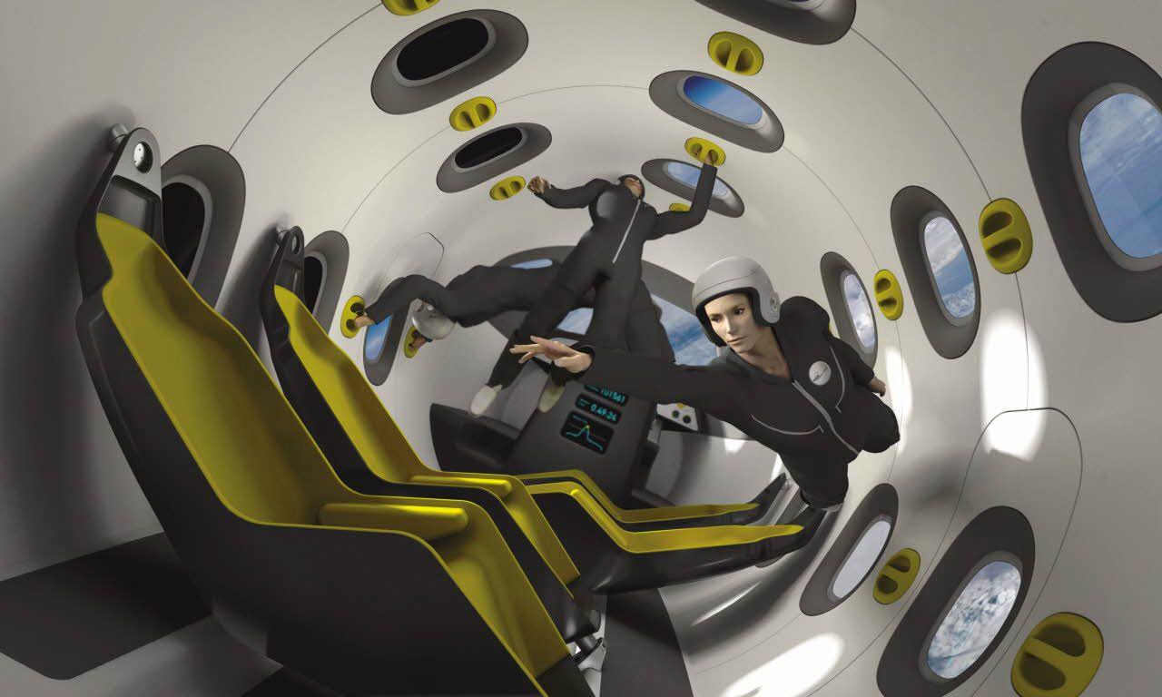 Passengers Aboard EADS' Space Jet Artist's Concept