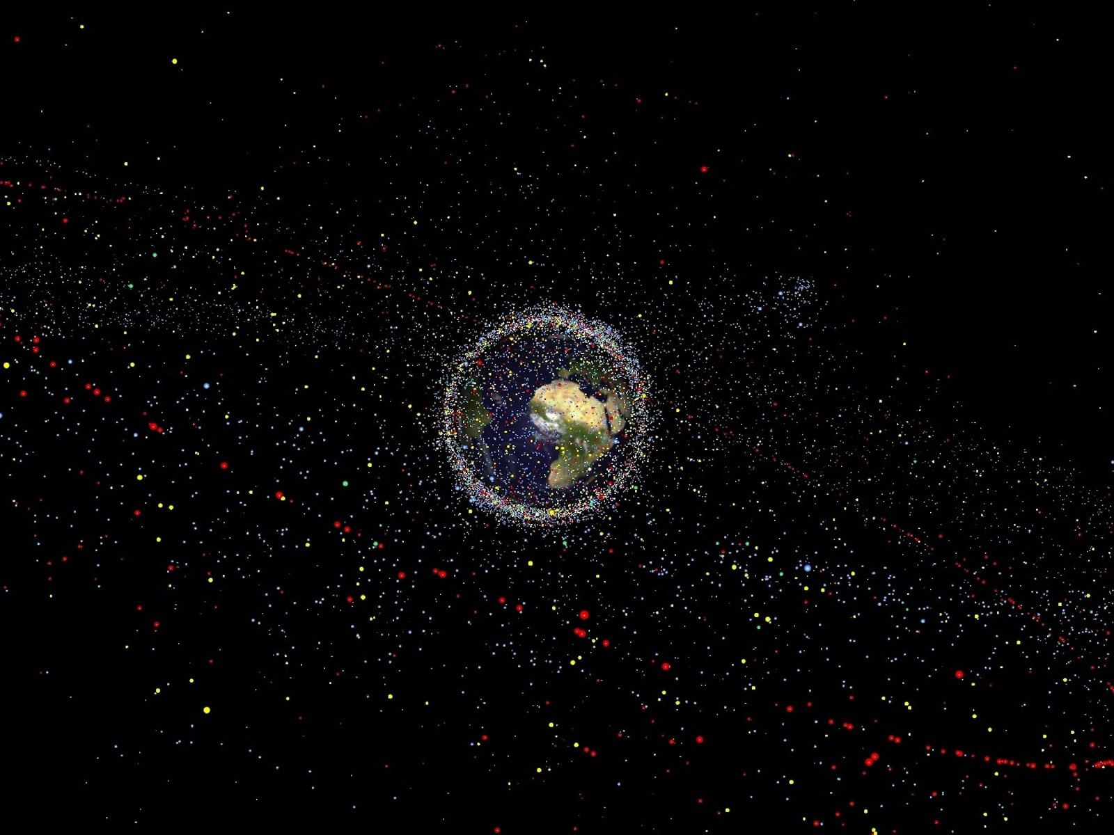 Space Junk Orbiting Earth