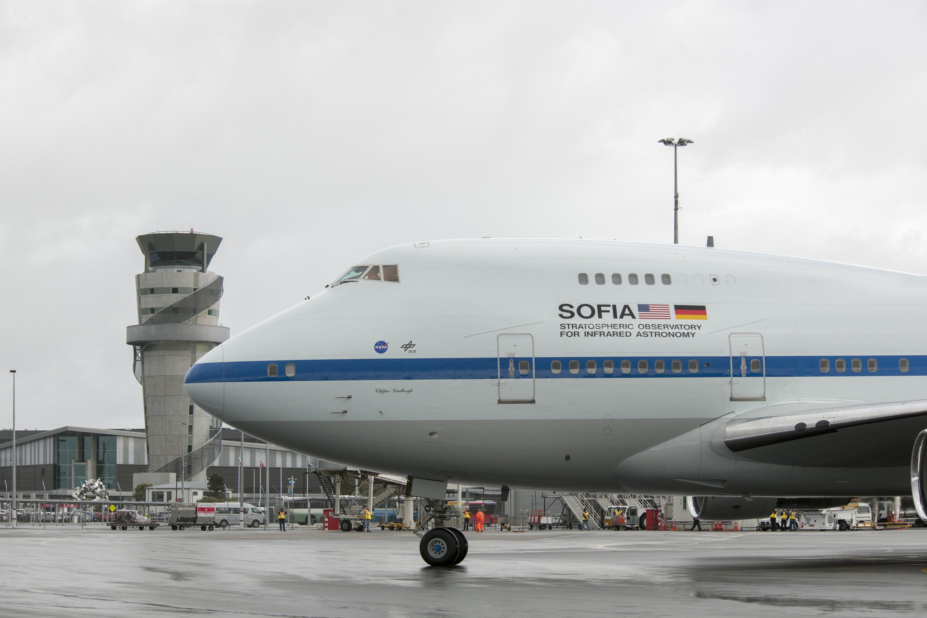 SOFIA 747SP Taxis