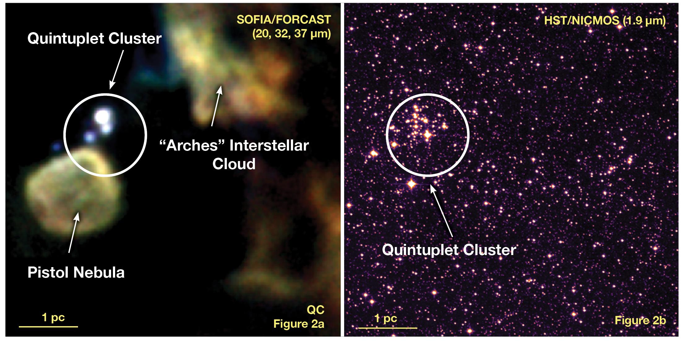 Quintuplet Cluster SOFIA Observation