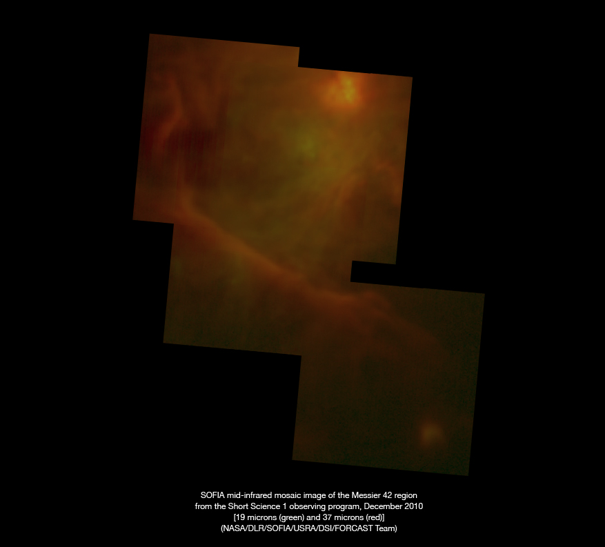 Mid-Infrared Mosaic of Orion by SOFIA