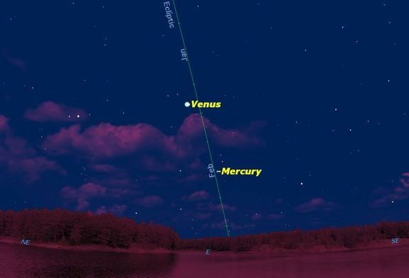 Observers in the southern hemisphere will get a better view of Mercury because of the favorable tilt of the ecliptic, the path of the sun and planets across the sky.