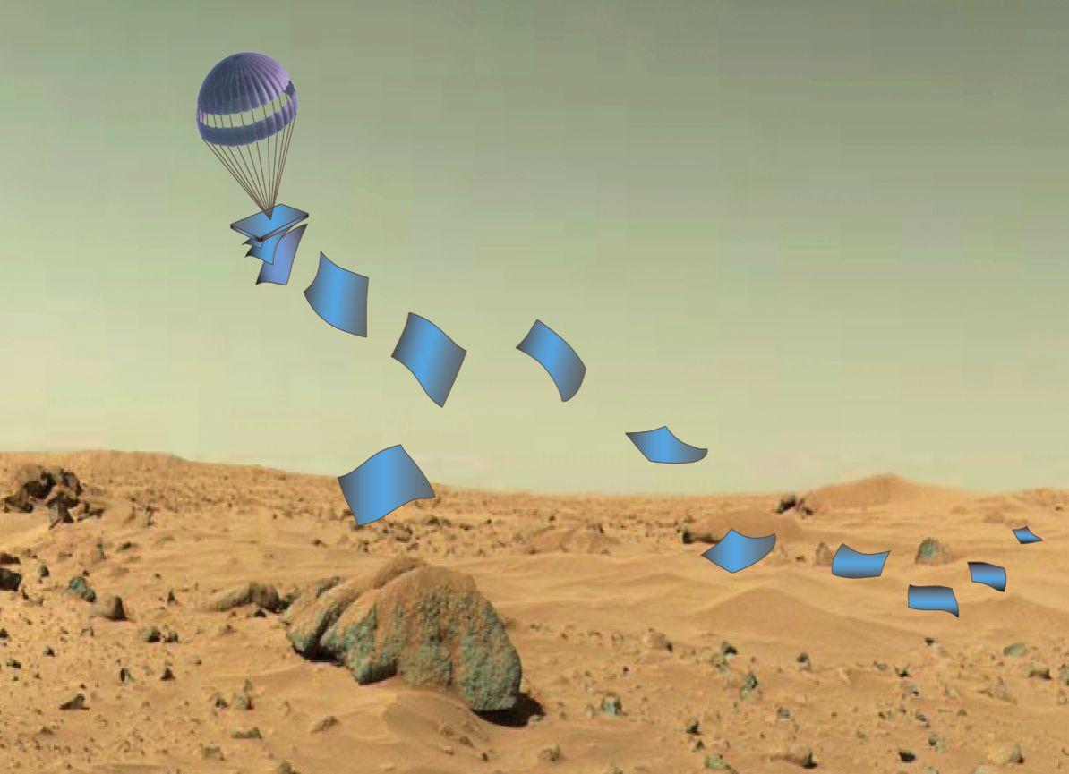 Incredible Technology: How Fleets of 'Flat Landers' Could Explore Other Planets