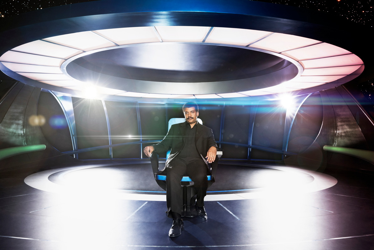 Neil deGrasse Tyson in 'Cosmos' Spaceship