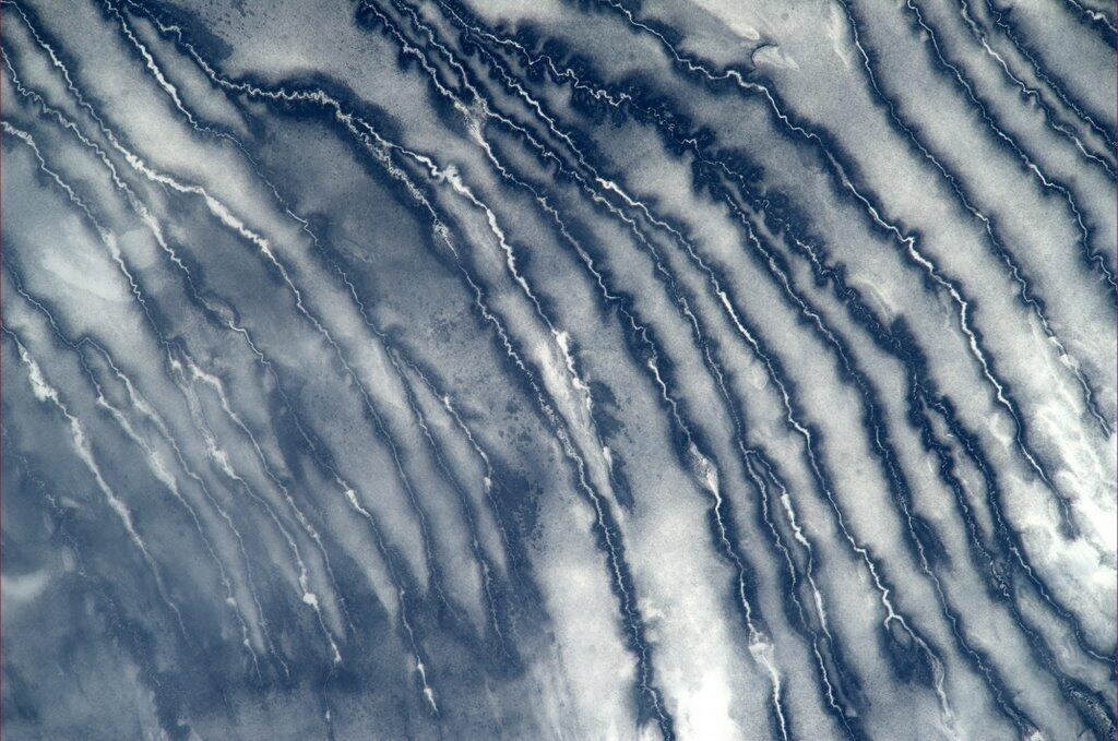 Mike Hopkins: Frozen Rivers South of Hudson Bay