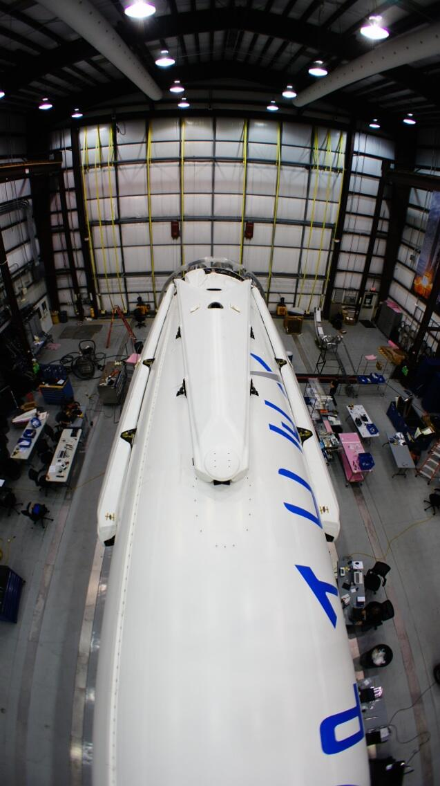 Landing Legs Mounted on Falcon 9