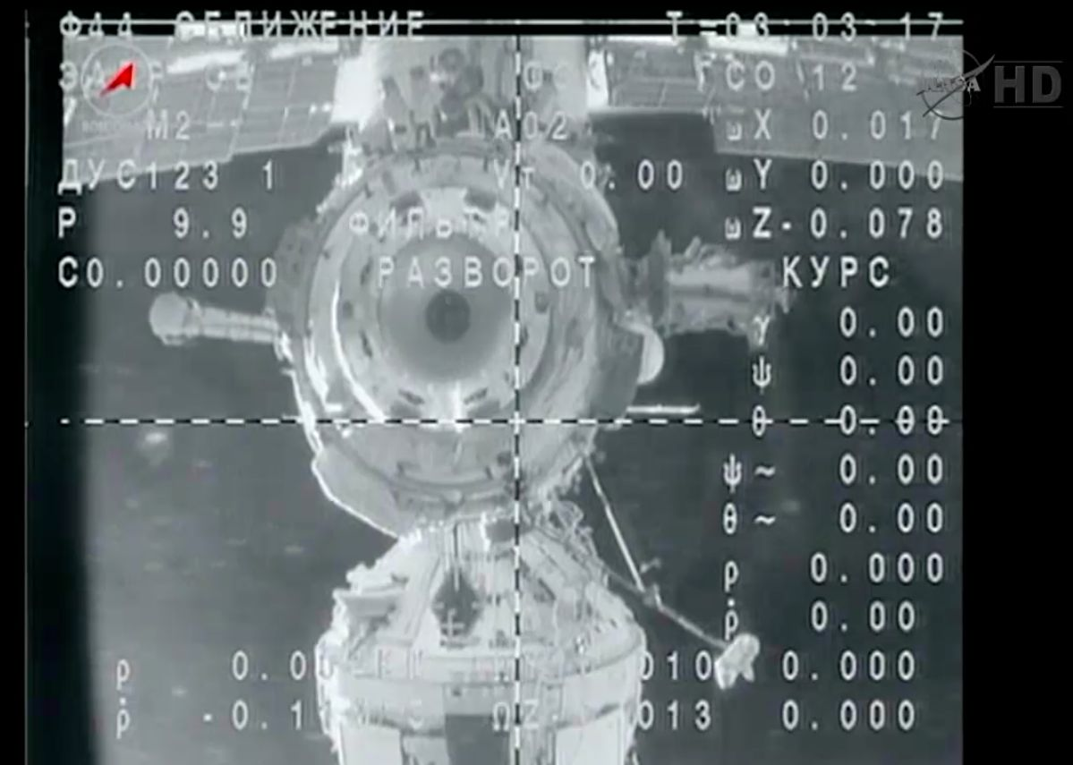 Soyuz Capsule Departs Space Station
