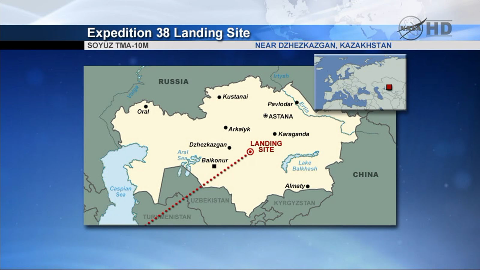 Expedition 38: Soyuz Landing Site