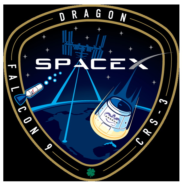 Third Commercial Resupply Services Mission Patch by SpaceX