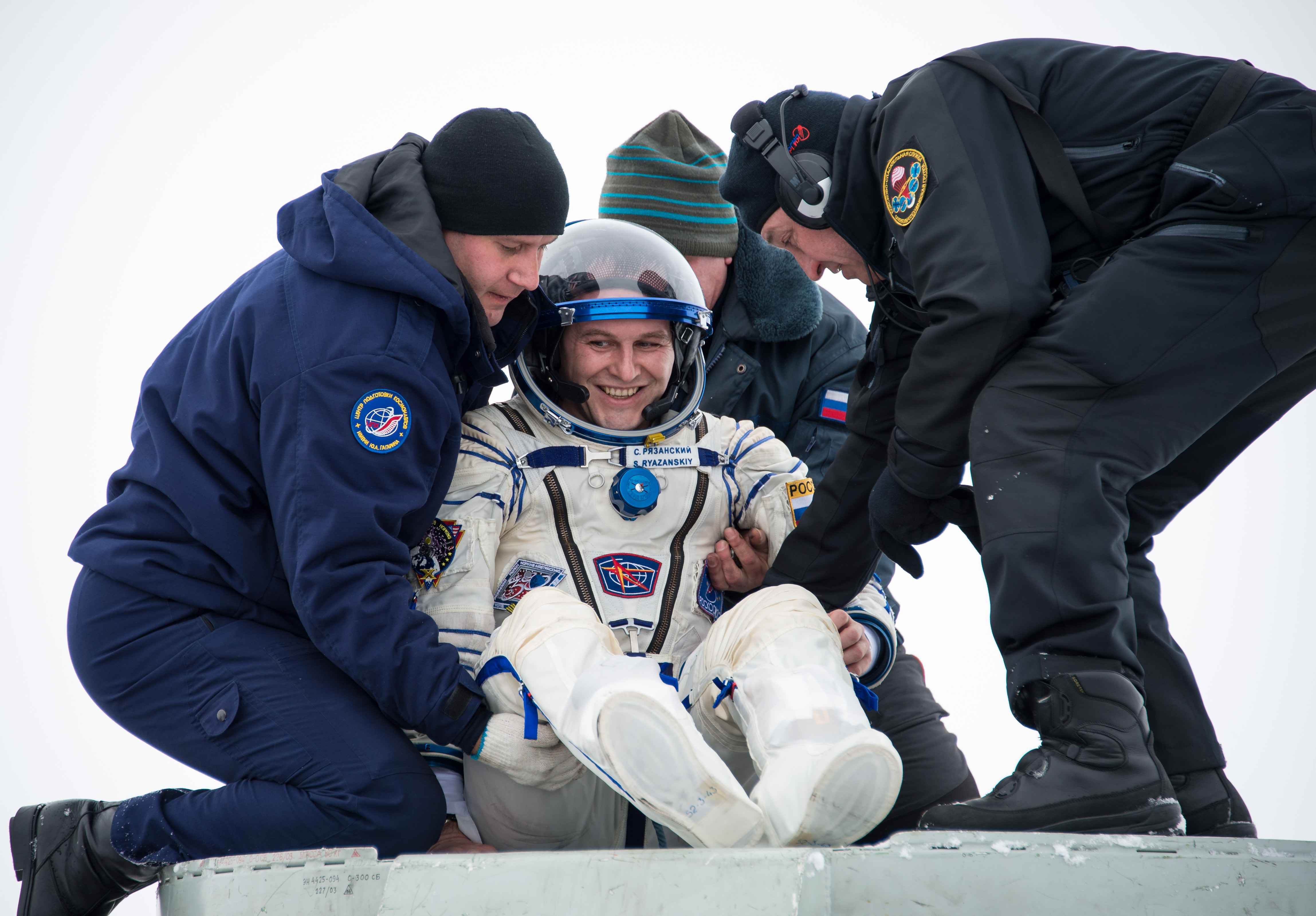 Expedition 38 Soyuz Landing: Sergey Ryazanskiy Returns Home