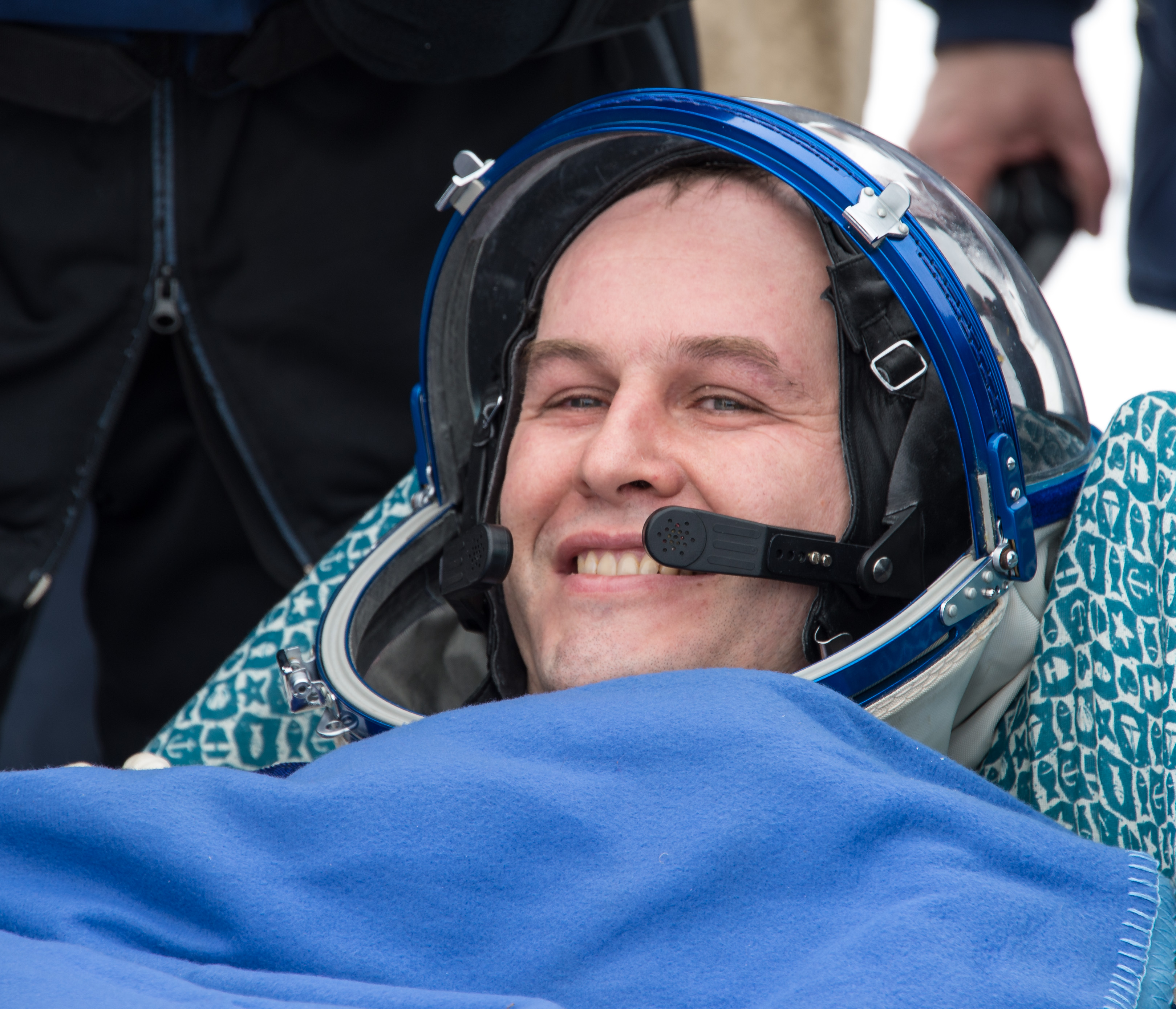 Sergey Ryazanskiy All Smiles After Landing