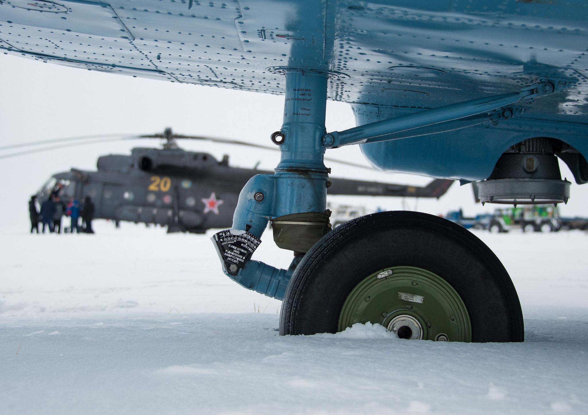 Russian MI-8 Helicopter Wheel in Snow