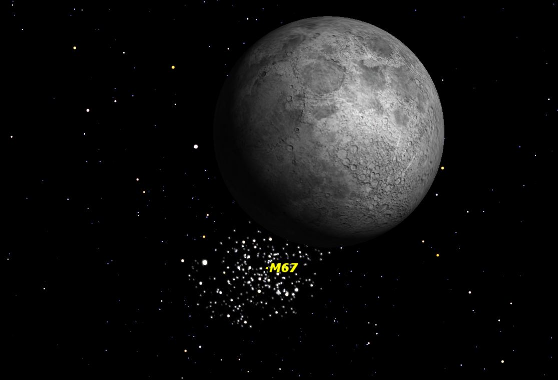 Watch a Star Cluster Disappear Behind the Moon Tonight