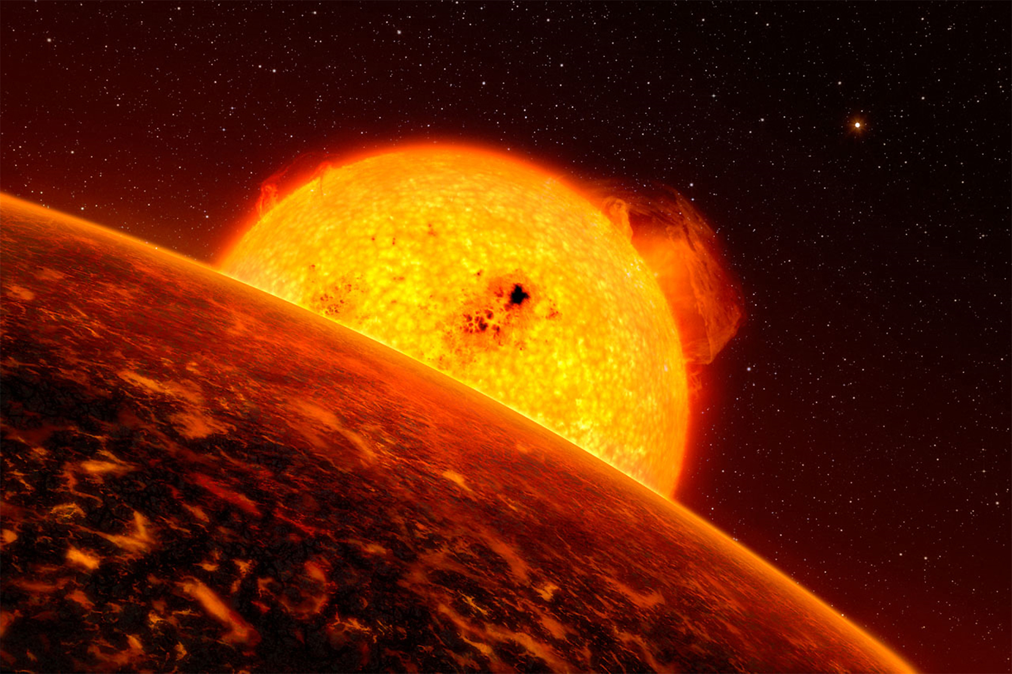 What Would A Rocky Exoplanet Look Like? Atmosphere Models Seek Clues