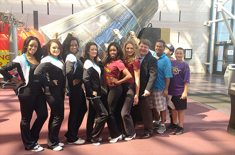 Cheerleaders' Space Station Experiment to Grow Space History One Microbe at a Time