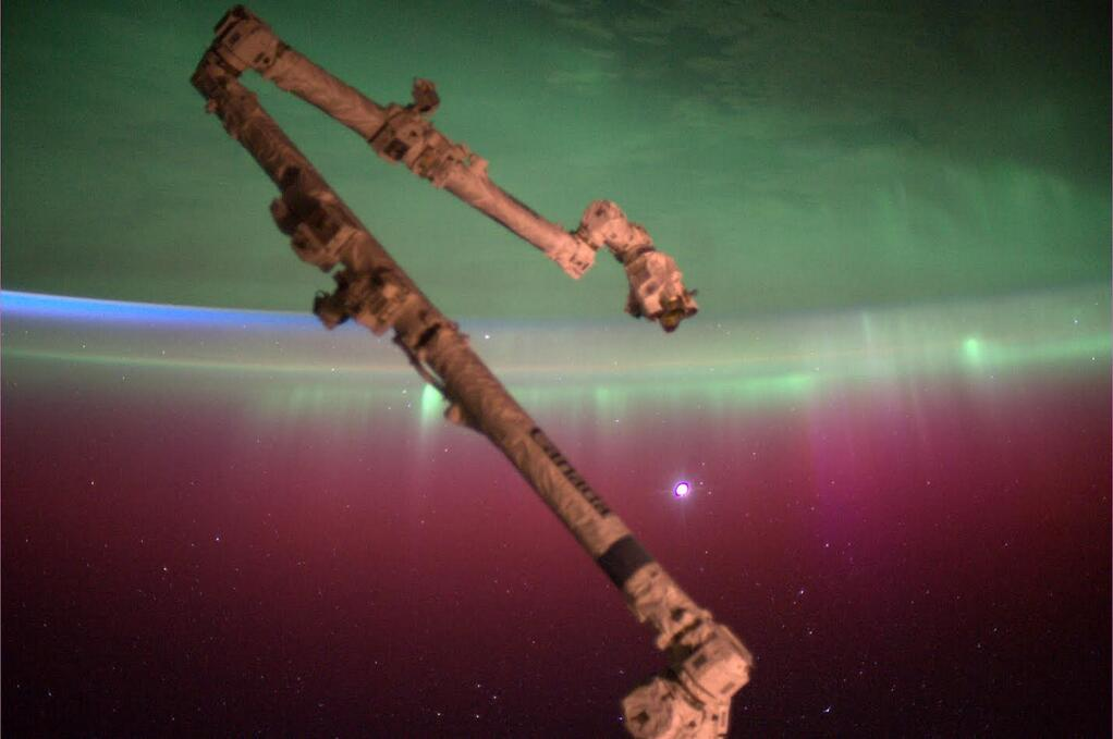 Canadarm2 Above Earth