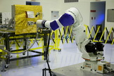 Service robots could help to refuel and repair satellites initially launched without the intent to do either, extending their lifetimes and reducing the money and resources spent.