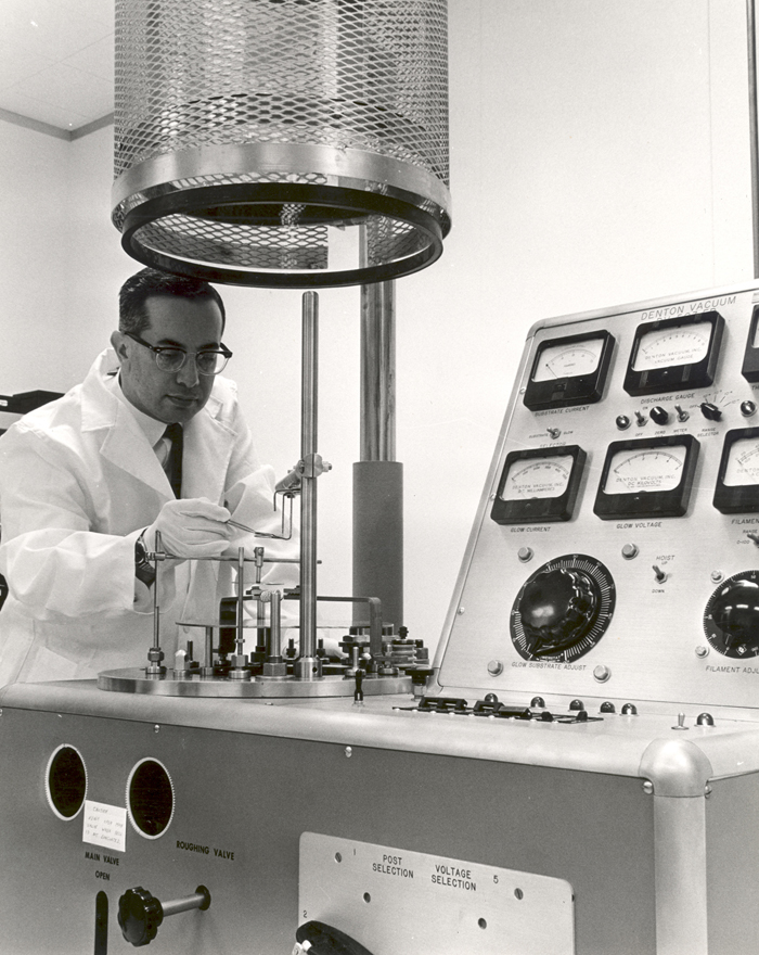 Space History Photo: Seymour Schwartz Conducts an Experiment at the ERC