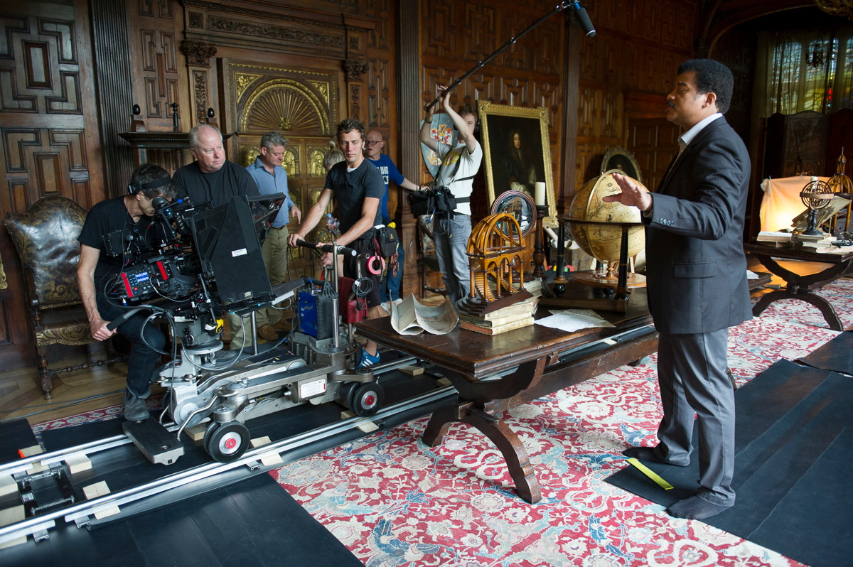 Cosmos Host Neil deGrasse Tyson Filming on Location
