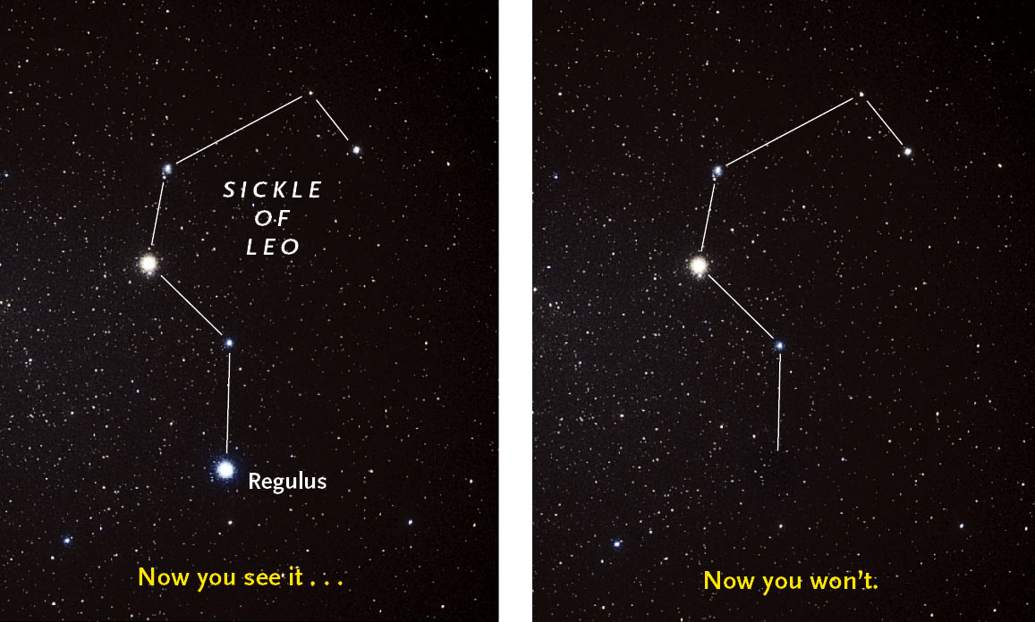 Regulus and Asteroid 163 Erigone on March 20, 2014