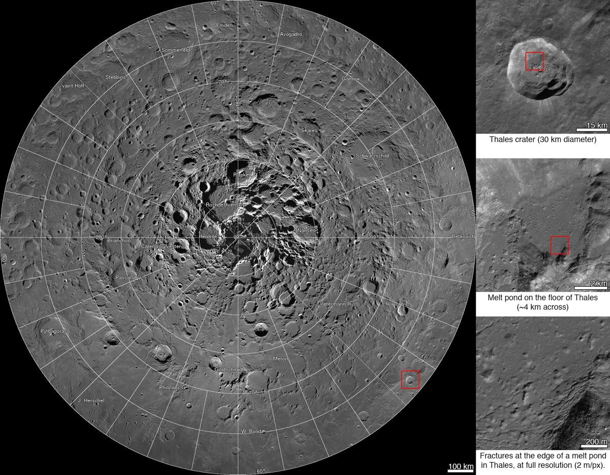 NASA HD Moon Map Reveals Lunar North Pole Like Never Before (Photo)
