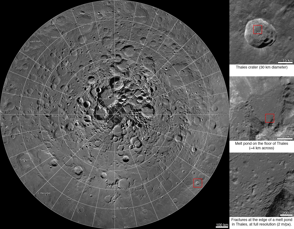 NASA HD Moon Map Reveals Lunar North Pole Like Never Before (Photo)